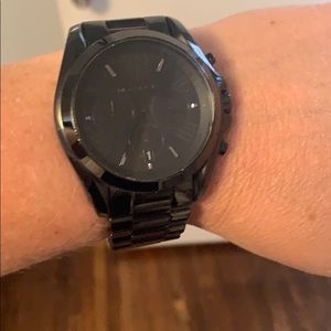Gunmetal black Michael Kors watch